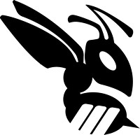 Hornet_Only BW (Adobe Illustrator) Vector