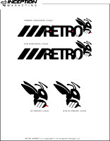 RETRO Hornet Logo Sheet (Adobe Illustrator) Vector